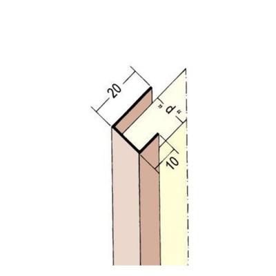 3738 PVC профил 9.5 / 2500 мм-разностранен