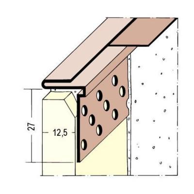 3766 PVC завършващ профил за сухо строителство 3000 мм