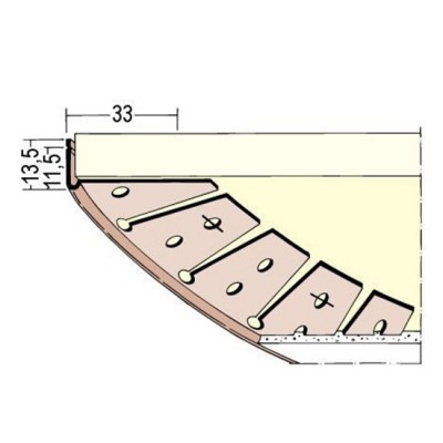 3768 PVC кант за арка 3000 мм