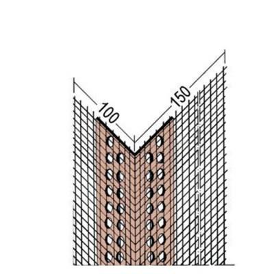 3797 PVC ъгъл с мрежа /10х15 см/ - 2500мм