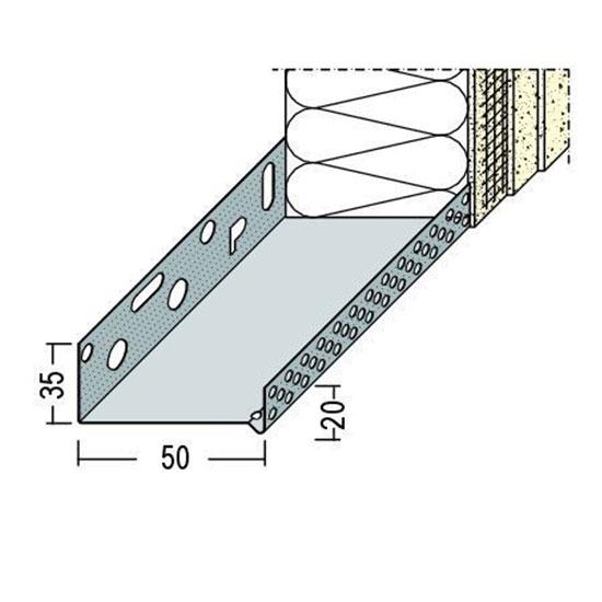 90605 Цокълен профил - алуминиев 50 мм /2500 мм