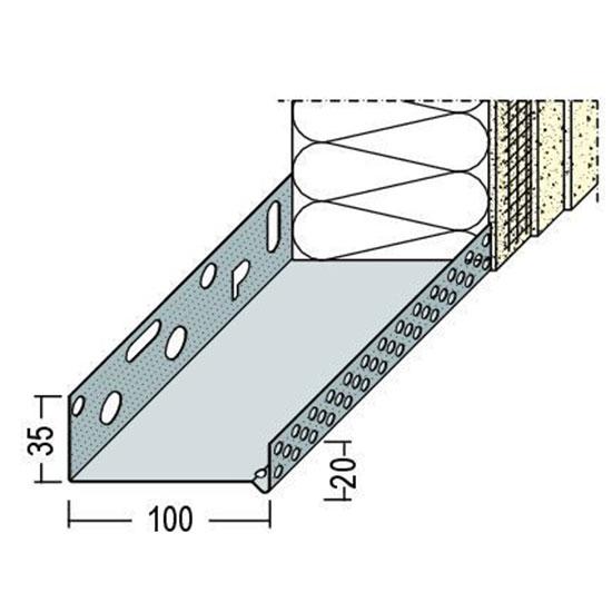 90610 Цокълен профил - алуминиев 100 мм /2500 мм